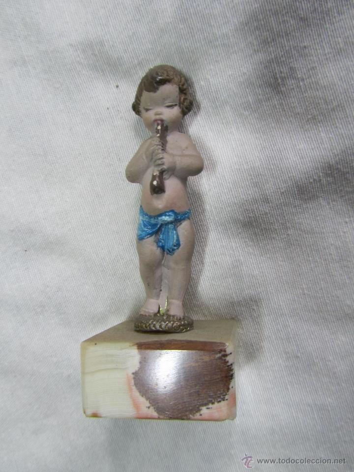 Juguetes Antiguos: 7 figuras de niños músicos de plomo - Foto 11 - 48921083
