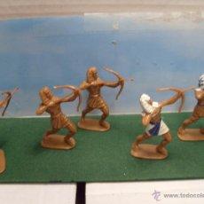 Juguetes Antiguos: LOTE JECSAN DE 5 ARQUEROS EGIPCIOS 65 MM. NUEVOS. Lote 51463644