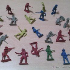 Juguetes Antiguos: 22 FIGURAS OESTE AMERICANO. Lote 54558644