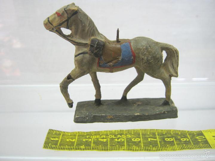 Juguetes Antiguos: raro DUROLIN marcado - bella figura caballo antiguo - Foto 2 - 56251006
