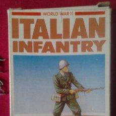 Juguetes Antiguos: AIRFIX MODEL FIGURES, ESCALA HO/OO, INFANTERÍA ITALIANA II GUERRA MUNDIAL, 48 PIEZAS COMPLETA, 1981. Lote 57542218