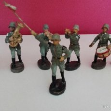 Juguetes Antiguos: LOTE Nº3 MUÑECOS BANDA MUSICA ANTIGUOS SOLDADOS ALEMANES ORIGINALES 100% DE LA 2ªGUERRA MUNDIAL. Lote 57627642