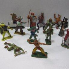 Juguetes Antiguos: LOTE DE MUÑECOS,FIGURITAS,ORIGINALES,SOLDADITOS,ES EL LOTE DE LA FOTO. Lote 58137404