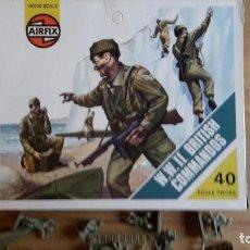 Juguetes Antiguos: SOLDADOS AIRFIX WW2 BRITISH COMMANDOS 1. VERSIÓN COMPLETO, SUELTOS, AÑO 1974. Lote 66417542