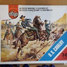 Juguetes Antiguos: SOLDADOS AIRFIX U.S. CAVALRY, COMPLETO, SUELTOS AÑO 1975. Lote 66428722