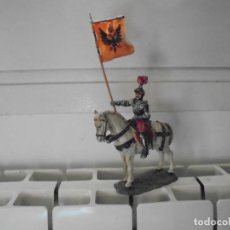 Juguetes Antiguos: CABALLERO MEDIEVAL DE MARCA ELASTOLIN. Lote 68979913