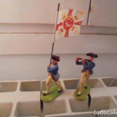 Juguetes Antiguos: 2 SOLDADOS DE LA MARCA ELASTOLIN. Lote 70402309