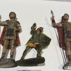 Juguetes Antiguos: ROMANOS DE BELEN DE PASTA Y MEDIEVAL DE MOYA-PLASTICO. Lote 72912903