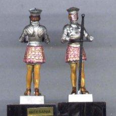 Juguetes Antiguos: MEDIA ARMADURA FELIPE I CASTILLA FIGURA PLÁSTICO 54 MM. AÑOS 70. Lote 237471370