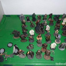 Juguetes Antiguos: LOTE DE 44 FIGURAS DE PLOMO DEL SEÑOR DE LOS ANILLOS NLP 2004. Lote 80042737