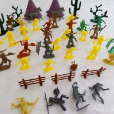 Juguetes Antiguos: LOTE FIGURAS INDIOS Y VAQUEROS. Lote 87077184
