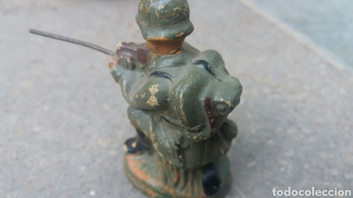 Altes Spielzeug: Soldado alemán disparando, Lineol, Elastolín etc - Foto 3 - 93385533
