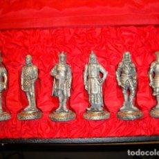 Juguetes Antiguos: MAGNIFICO ESTUCHE CON SEIS GUERREROS PLATEADOS A LO LARGO DE LA HISTORIA DE 11 CM DE ALTURA VER FOTO. Lote 93688720
