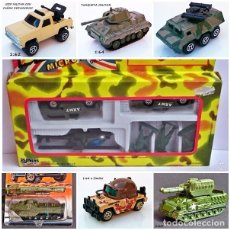 Juguetes Antiguos: LOTE MODELOS MATCHBOX MAJORETTE THE S.A.S MICRO FORCE VEHÍCULOS MILITARES. Lote 92067520