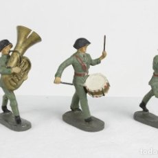 Juguetes Antiguos: ELASTOLIN, 3 MÚSICOS CASCO NEGRO. Lote 95283591