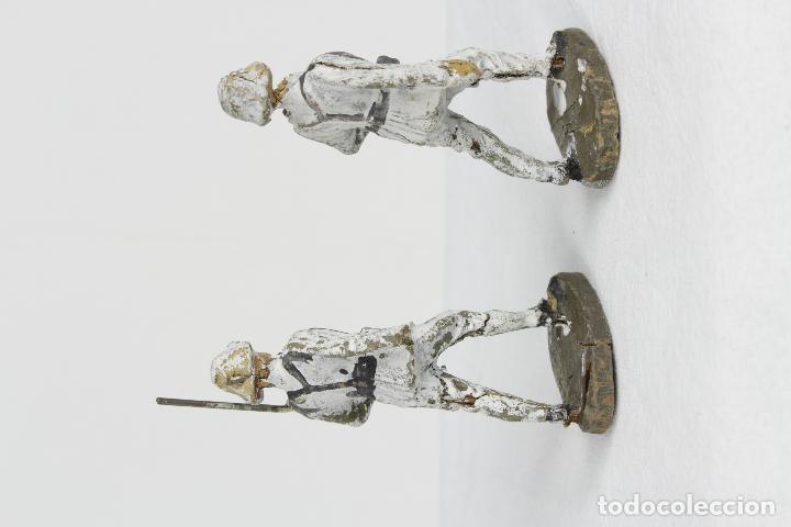 Juguetes Antiguos: Elastolin 2 soldados blancos - Foto 2 - 95719407