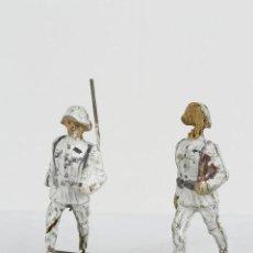 Juguetes Antiguos - Elastolin 2 soldados blancos - 95719407