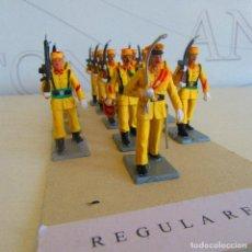 Juguetes Antiguos: LOTE SOLDADOS DE PLASTICO REGULARES SOLDIS, GUERRA. Lote 96626247