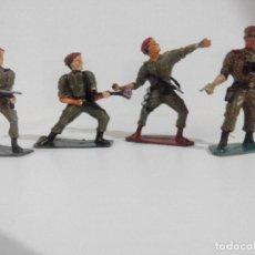 Juguetes Antiguos: LOTE DE4 SOLDADOS INGLESES DE LA 2ª GUERRA MUNDIAL.. Lote 96998675