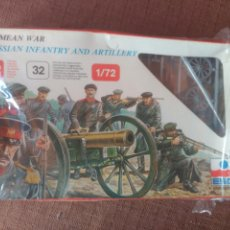 Juguetes Antiguos: CRIMEAN WAR - RUSSIAN INFANTRY AND ARTILLERY 1/72. Lote 98543691