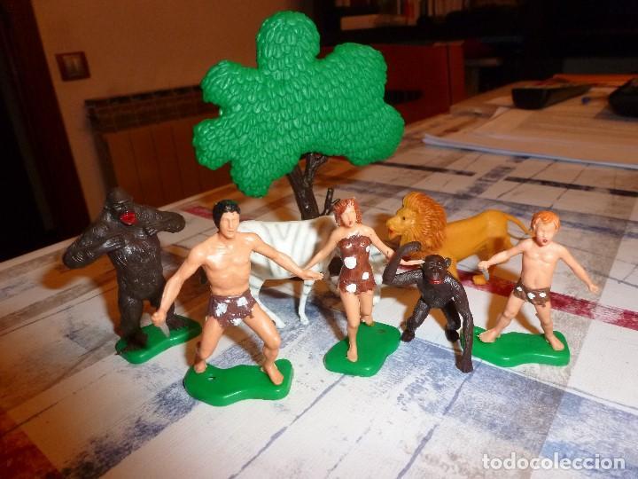 Juguetes Antiguos: TARZÁN,JANE,BOY Y CHITA EN LA SELVA-60MM. - Foto 2 - 103066775