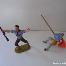 Juguetes Antiguos: 2 SOLDADOS DE LA MARCA ELASTOLIN. Lote 111108211