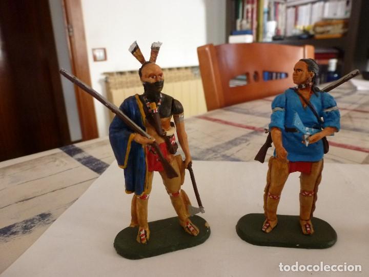 Juguetes Antiguos: EL ÚLTIMO MOHICANO,HAWKEYE,MAGUA,UNCAS Y CHINGACHGOOH,KRAZE,ELASTOLIN,DIEDHOFF,JANETZKI-1/25(70MM) - Foto 4 - 117513331