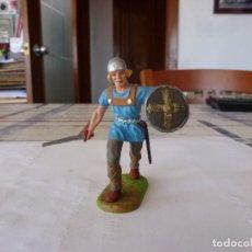Juguetes Antiguos: GUERRERO MEDIEVAL-ELASTOLIN,LINEOL,DIEDHOFF,JANETZKI ARTS1/25(70 MM) . Lote 117535987