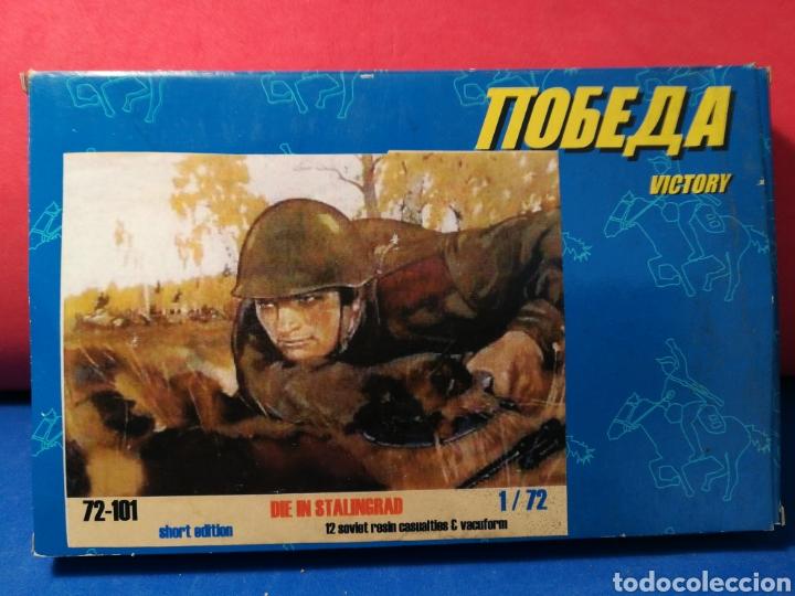 Altes Spielzeug: Caja Victory Muere en Stalingrado 12 soldaditos soviéticos resina + trinchera - Foto 3 - 122574612