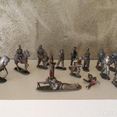 Juguetes Antiguos: ESPECTACULAR LOTE ANTIGUOS SOLDADOS DE ALUMINIO. Lote 128082903