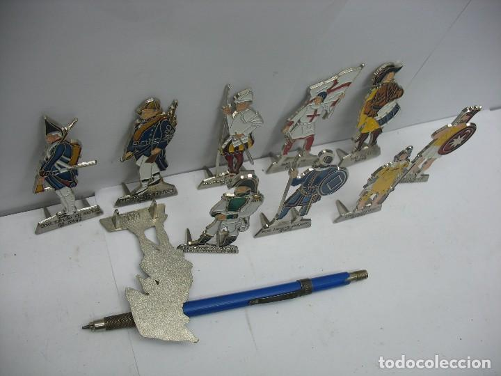 Juguetes Antiguos: soldados metalicos planos set nº 1 - Foto 2 - 128910919