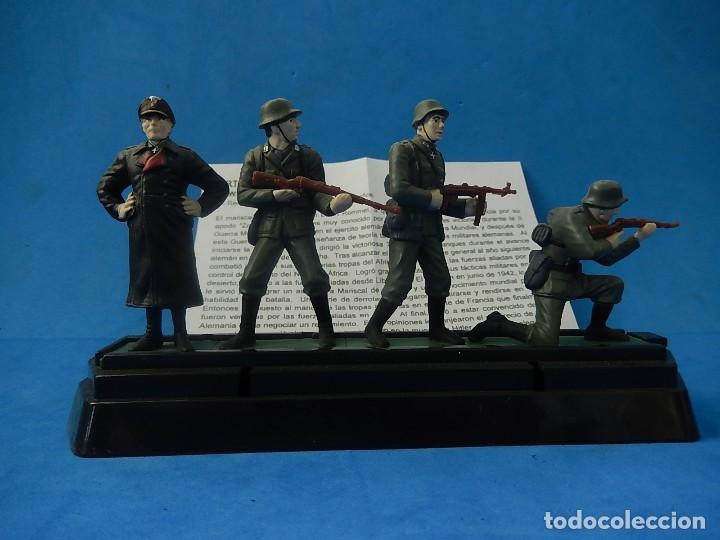 ELITE COMMAND. DIECAST SOLDIERS. ERWIN ROMMEL Y SOLDADOS ALEMANES. BLUE-BOX. (Juguetes - Soldaditos - Otros soldaditos)