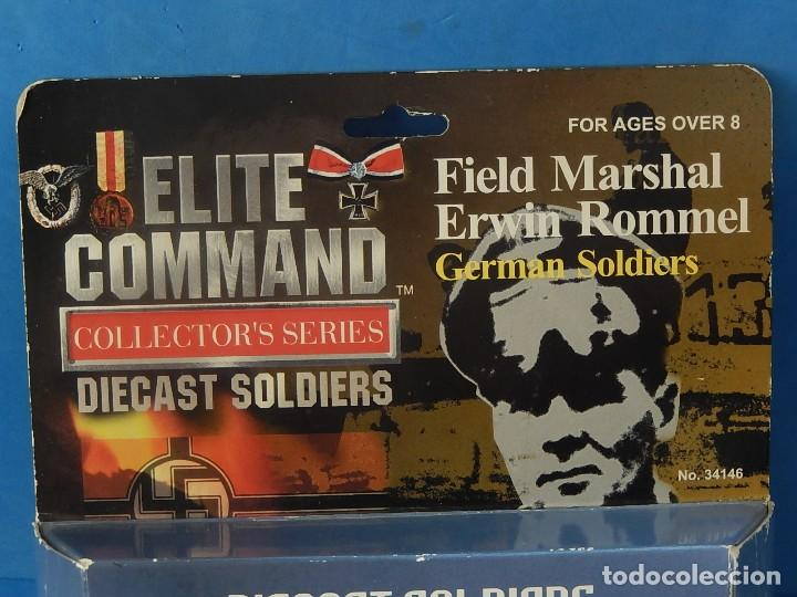 Juguetes Antiguos: Elite Command. Diecast Soldiers. Erwin Rommel y Soldados alemanes. Blue-Box. - Foto 19 - 129461791