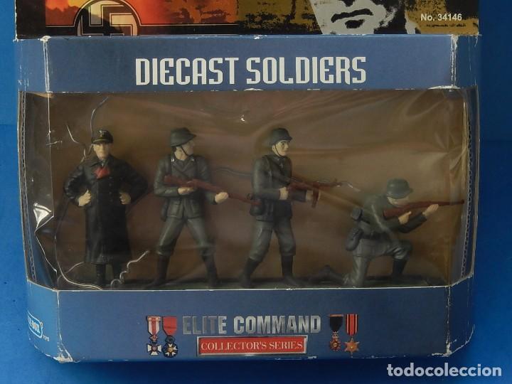 Juguetes Antiguos: Elite Command. Diecast Soldiers. Erwin Rommel y Soldados alemanes. Blue-Box. - Foto 20 - 129461791