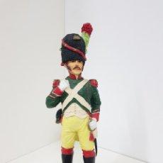 Juguetes Antiguos: SOLDADO DE GRAN TAMAÑO EN RESINA RUSO GUARDIA REAL VERDE MEDIDAS 32X 11 CM. Lote 131793059