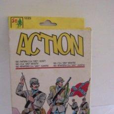 Juguetes Antiguos: VINTAGE ACTION 1863 INFANTERIA CONFEDERACION CSA GREY SUDISTAS A TOYS. Lote 134924886