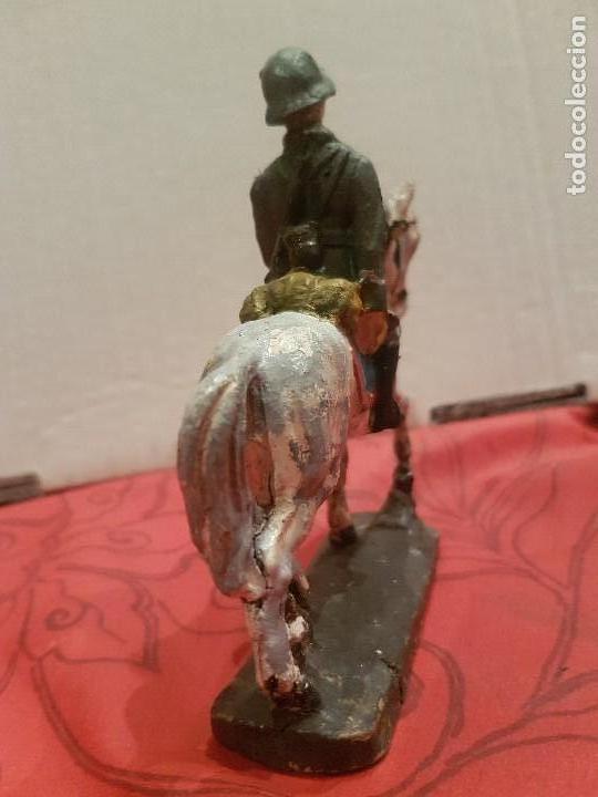 Juguetes Antiguos: Soldado alemán a caballo de pasta, tipo Lineol, Elastolín etc - Foto 4 - 136143006