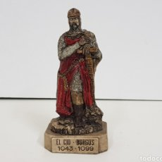 Juguetes Antiguos: FIGURA EN RESINA HUECA EL CID BURGOS 1043. 1099 DE LAURART 2000 12 CM CON PEANA. Lote 137998638