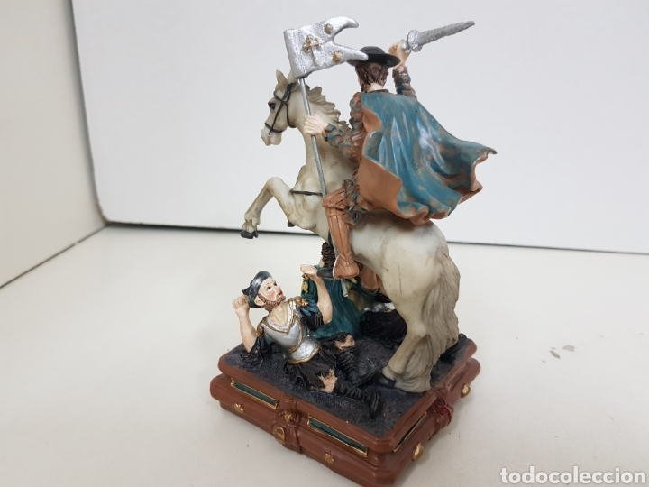 Juguetes Antiguos: Escena batalla cristiana fabricada en resina hueca medidas 16 x 9 cm - Foto 3 - 138001614