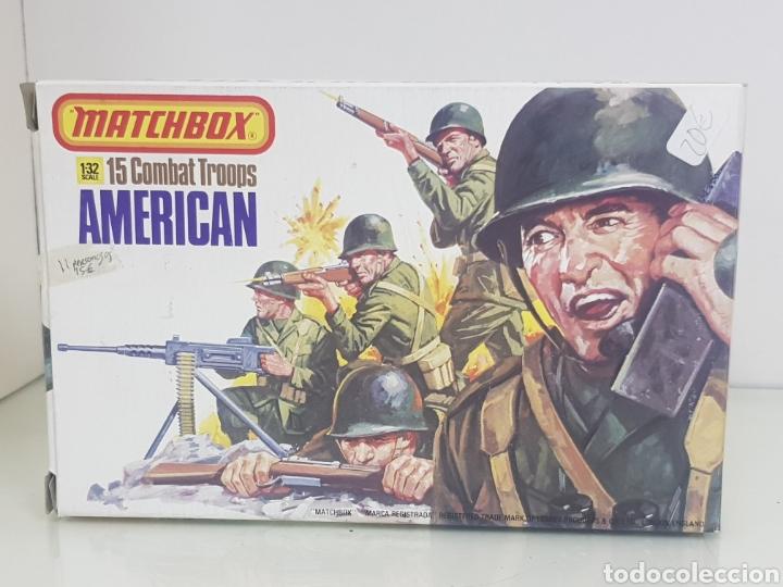 MATCHBOX COMBATIENTES TROPAS AMERICANAS ESCALA 1/32 11 PERSONAJES VARIADOS (Juguetes - Soldaditos - Otros soldaditos)