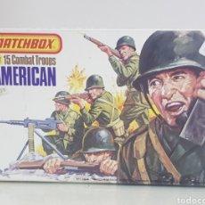 Juguetes Antiguos: MATCHBOX COMBATIENTES TROPAS AMERICANAS ESCALA 1/32 11 PERSONAJES VARIADOS. Lote 147158242