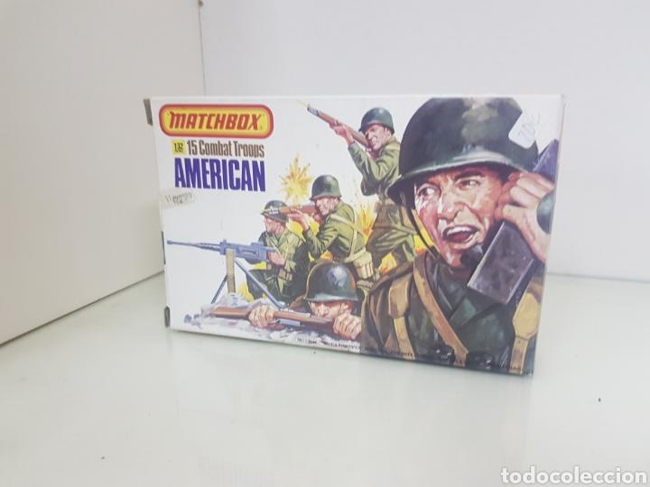 Juguetes Antiguos: Matchbox combatientes tropas americanas escala 1/32 11 personajes variados - Foto 2 - 147158242