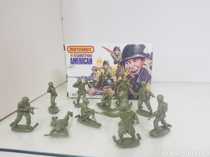 Juguetes Antiguos: Matchbox combatientes tropas americanas escala 1/32 11 personajes variados - Foto 3 - 147158242