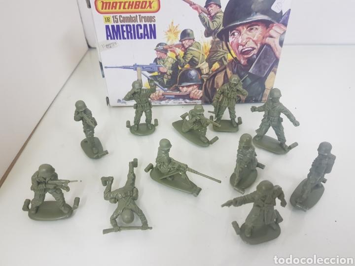 Juguetes Antiguos: Matchbox combatientes tropas americanas escala 1/32 11 personajes variados - Foto 4 - 147158242