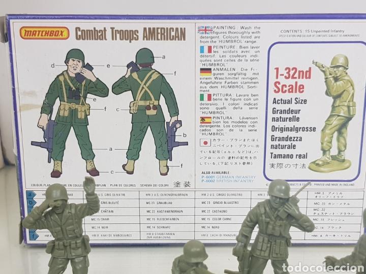 Juguetes Antiguos: Matchbox combatientes tropas americanas escala 1/32 11 personajes variados - Foto 5 - 147158242