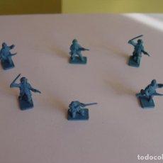 Juguetes Antiguos: LOTE 6 SOLDADITOS (GUERRA CIVIL NORTEAMERICANA) 70'S ¡ORIGINALES!. Lote 149703730