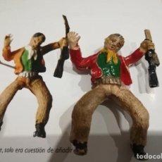 Juguetes Antiguos: VAQUERO DE PLASTICOS PARRADO-GOMA DURA. Lote 151910462