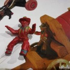 Juguetes Antiguos: COWBOY 5CM-GOMA. Lote 151910530