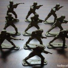 Juguetes Antiguos: 10 SOLDADOS COMANDOS PARA PINTAR DE PLASTICO. Lote 153980598