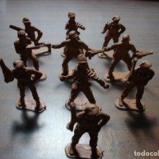 Juguetes Antiguos: 10 SOLDADOS COMANDOS PARA PINTAR DE PLASTICO. Lote 153980742